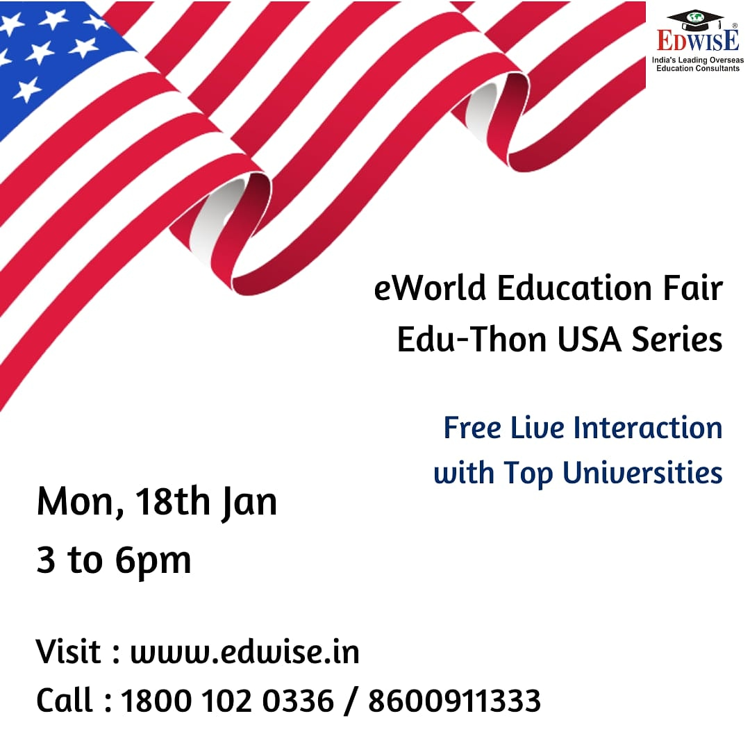 #USA #series #universities #january #admissionsday #educationabroad #higherstudies #highereducation #event #consultants #counselor #countries #onlineeducation  #events #virtual #university #edwiseinternational #futurethroughedwise