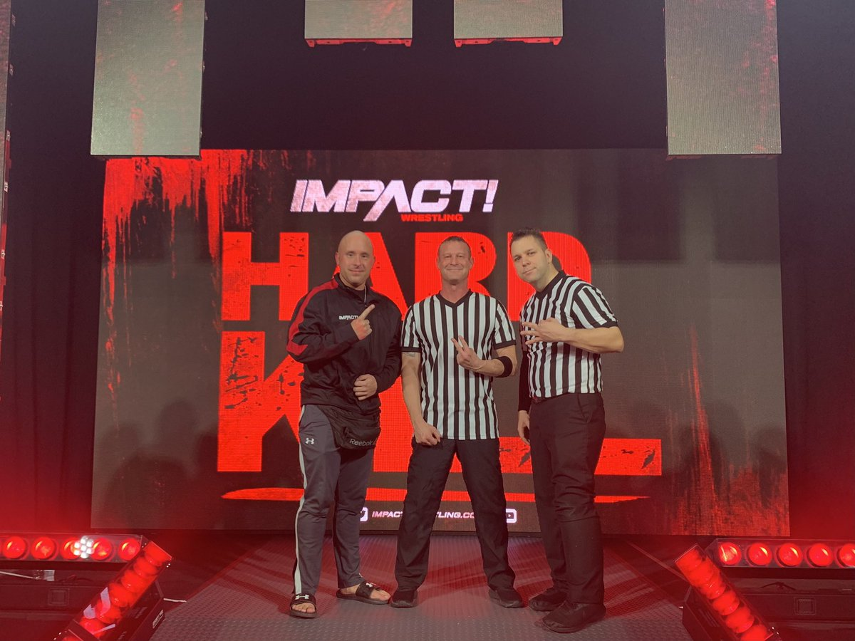 The #HardToKill Officials 🦓 @IMPACTWRESTLING. So excited and honored to get to work with @babyhebner.