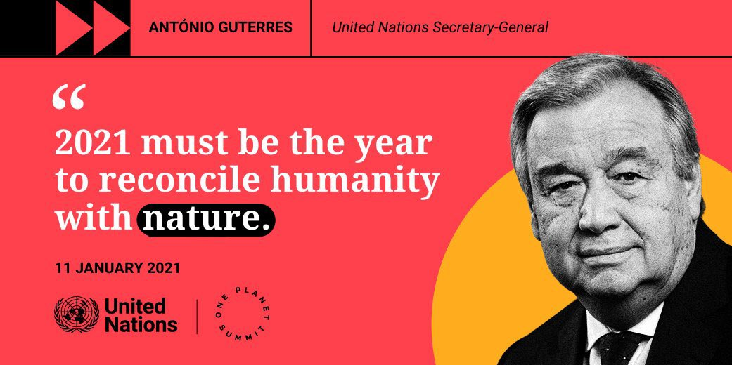 """We need action #ForNature.  """"Until now, we have been destroying our planet. We have been abusing it as if we had a spare one.""""  @antonioguterres at the #OnePlanetSummit: https://t.co/uwvluueVgd https://t.co/ooOAbaBbyO"""