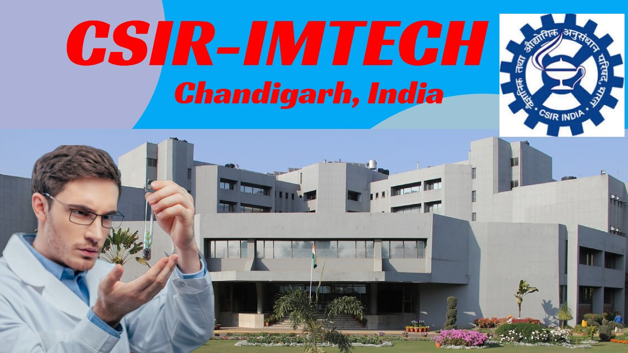 Scientist D (Non-Medical) at CSIR-IMTECH: Apply by 30 January 2021