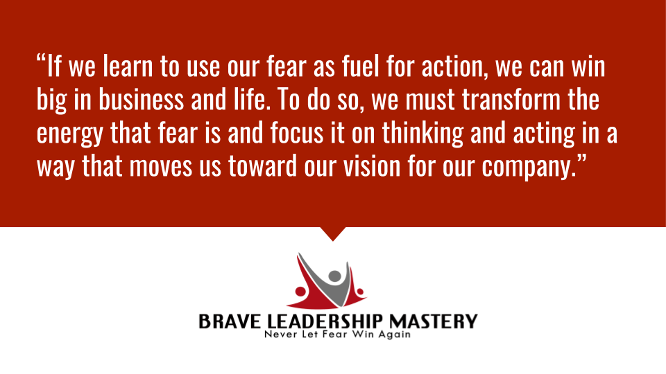 If we learn to use our fear as fuel for action, we can win big in business and life. To do so, we must transform the energy that fear is and focus it on thinking...  #smallbusiness #motivation