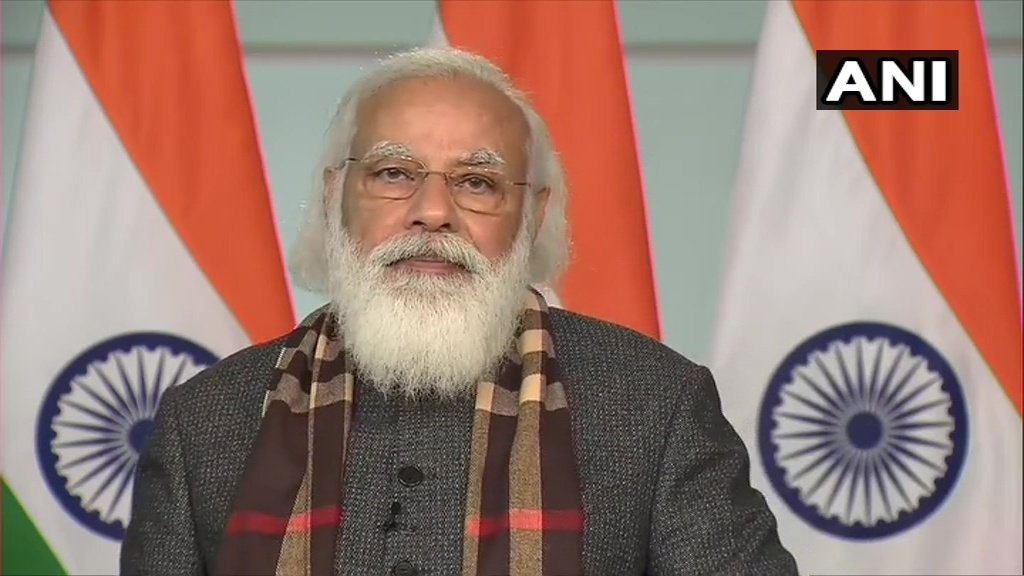 One of the trains flagged off for Kevadia today originates at Puratchi Thalaivar Dr MG Ramachandran Central Railway Station. It is a pleasant coincidence that today is the birth anniversary of MGR. His life was dedicated to the service of the poor: PM Modi (ANI)