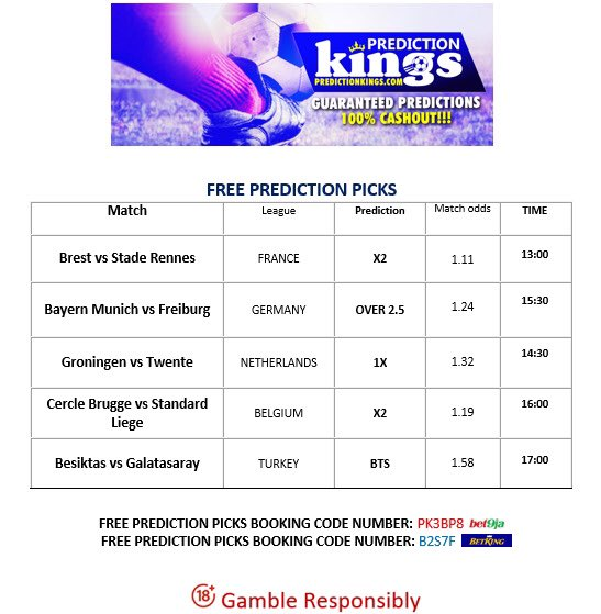 Waooo!!!!  Here is our today's free prediction picks  You can always send us a Dm on our WhatsApp number: +2349056530125 for more accurate predictions and tips, you can also follow us on our telegram page:  #predator #tbthursday #thursdayvibes