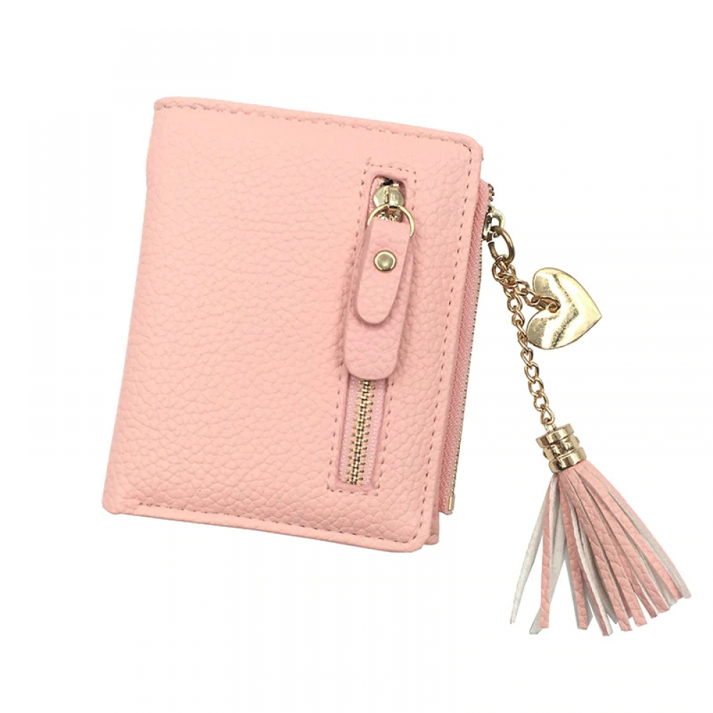 #fashion #style Small Faux Leather Women's Wallets with Tassel Decorations