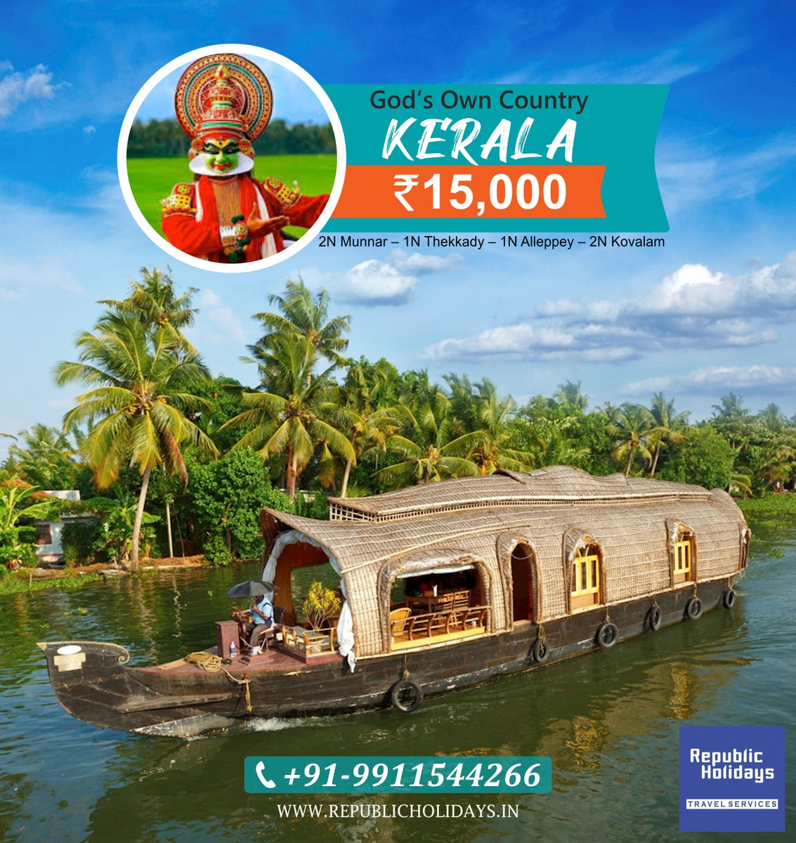 God's Own Country - Kerala Make your Kerala holidays the best family vacation trip. #kerala #keralagram #godsowncountry #Munnar #Thekkady #Alleppey #Kovalam #keralatour #keralatourism #keraladiaries #keralatrip #holidays #vacation #trip #honeymoon #keralapackage #republicholidays