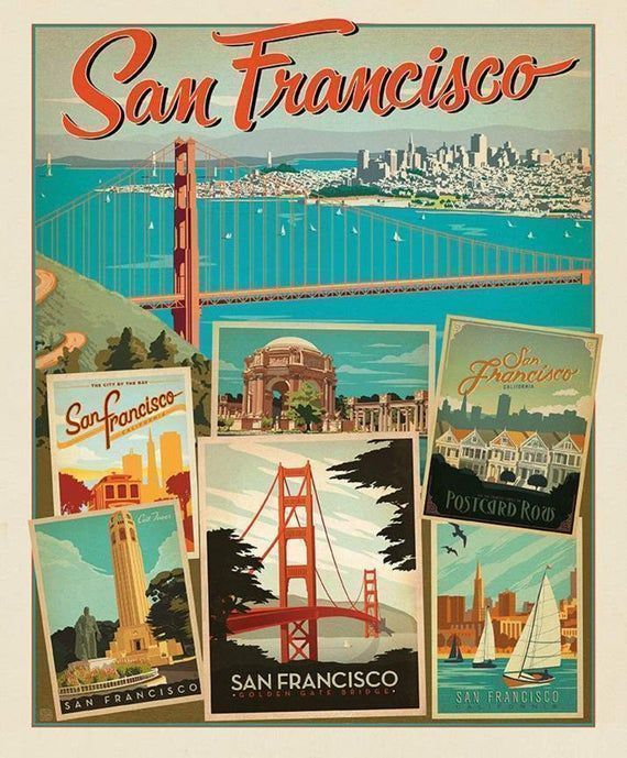 36 x 43 #SanFrancisco #FabricPanel by Anderson #Etsy #quilting #Quiltingcotton #Sewing #Holiday #Vacation