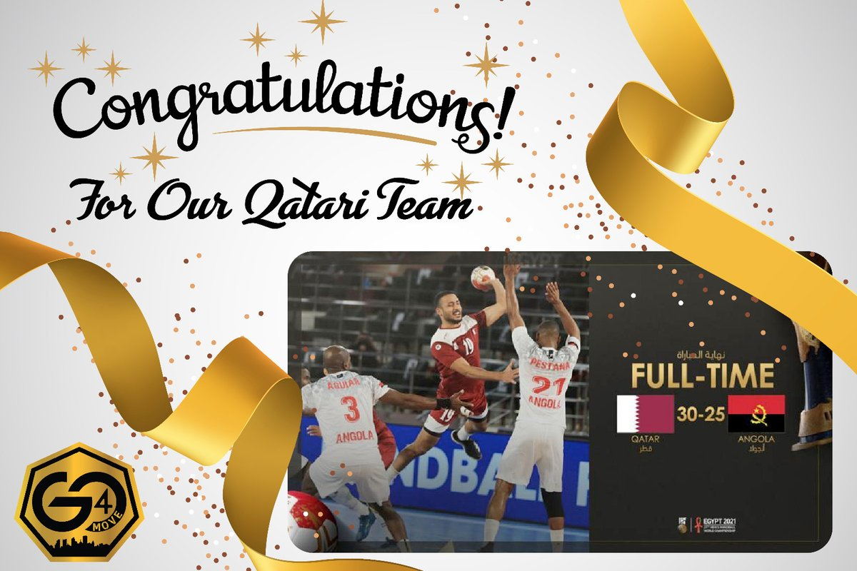 Qatar commenced the 2021 Handball World Cup Egypt with a 30-25 winning points over Angola. Congratulations to our Qatar  🇶🇦 team!   #Go4Move #Doha #Qatar https://t.co/ZuvjYN5rgC
