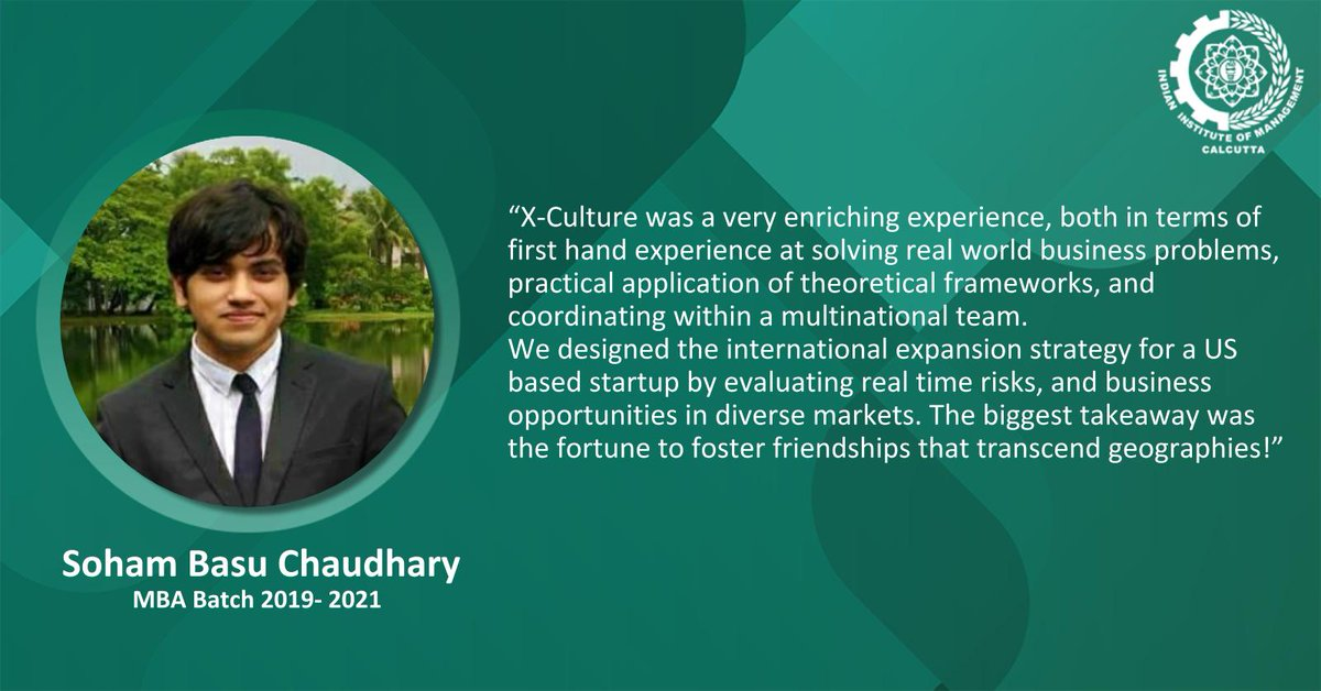 We are delighted to share that Soham Basu Chaudhary has been awarded the Best Team Award, at X-Culture 2020-2b, a global student collaboration project, for his strategic decision making solutions to mitigate the challenges for DartDrones, USA. Congratulations Soham! https://t.co/GM1CVWLt6n