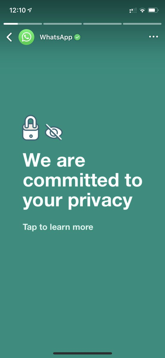 And they talk about privacy I don't need ur unwanted messages #Facebook #WhatsAppPrivacyPolicy #WhatsappStatus