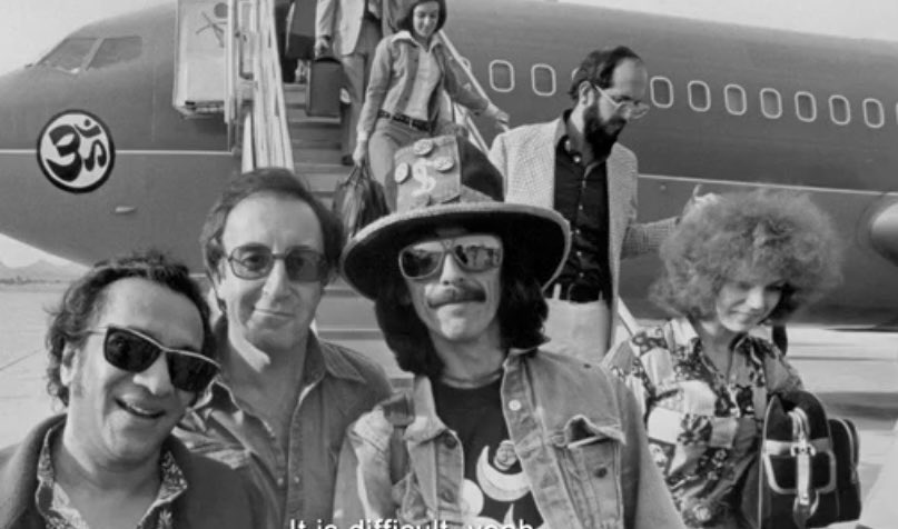 In 1974, @GeorgeHarrison helped organise a world tour for Indian classical musicians led by Pandit Ravi Shankar, featuring Ustad Alla Rakha, Pandit Hariprasad Chaurasia, Pandit Shivkumar Sharma & others.  45 years before India's first Rafale aircraft got its 🕉, there was this...