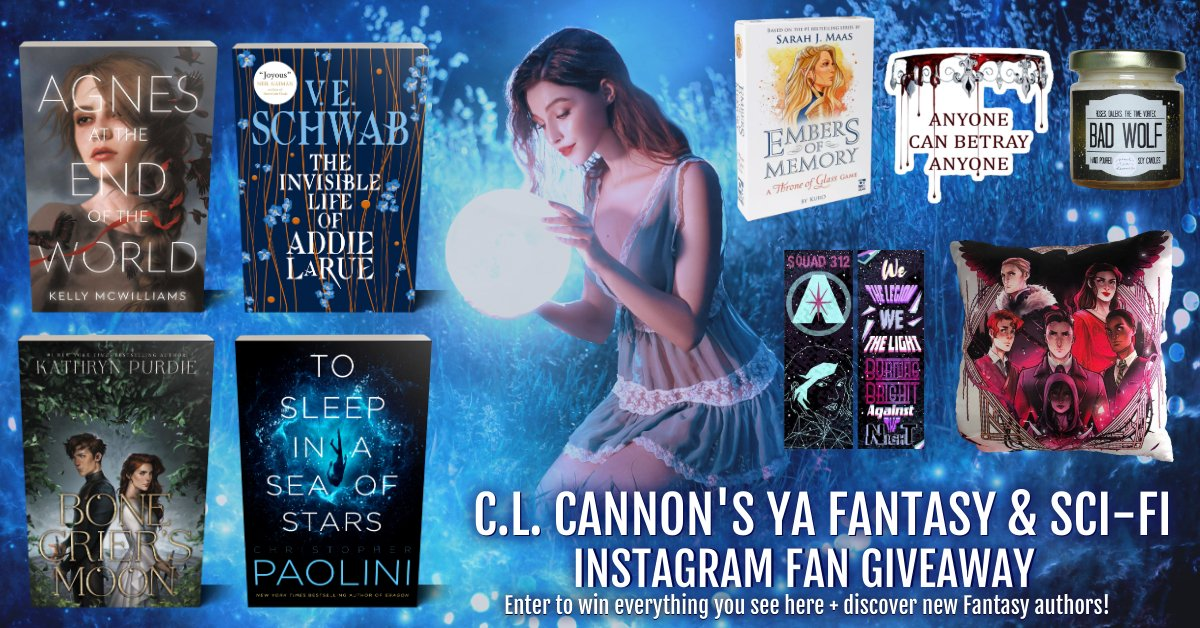 #Win 4 Bestselling YA Fantasy & Sci-fi Books + some bookish goodies! Follow some amazing YA Fantasy & Sci-fi authors on Instagram for a chance to win.