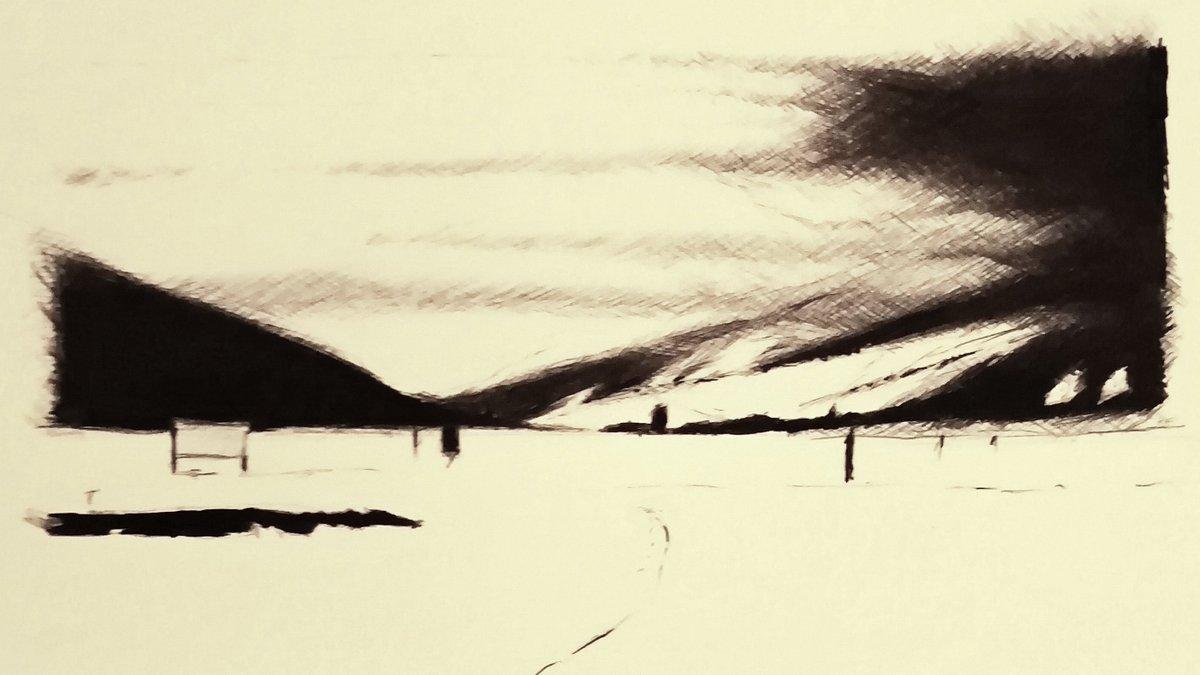 Goms Langlauf #goms #valais #switzerland #wallis #blickheimat #landscape #nature #montagne #valaiswallis #sketch #drawing #art #artwork #sketching #pencil #draw #bw #bnw #blackandwhite #skinordic #crosscountryskiing #loipenglück #langlauf