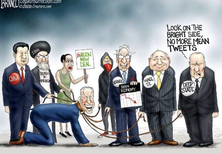 🚨 كاريكاتير عرض في أكثر من موقع وجريدة وهو يعكس الحرب القذرة التي شنت على #ترامب من جانب الدولة العميقة في #واشنطن وكيف ادارت #الصين الحرب في الكواليس بجانب مرشحها الديموقراطي #جو_بايدن