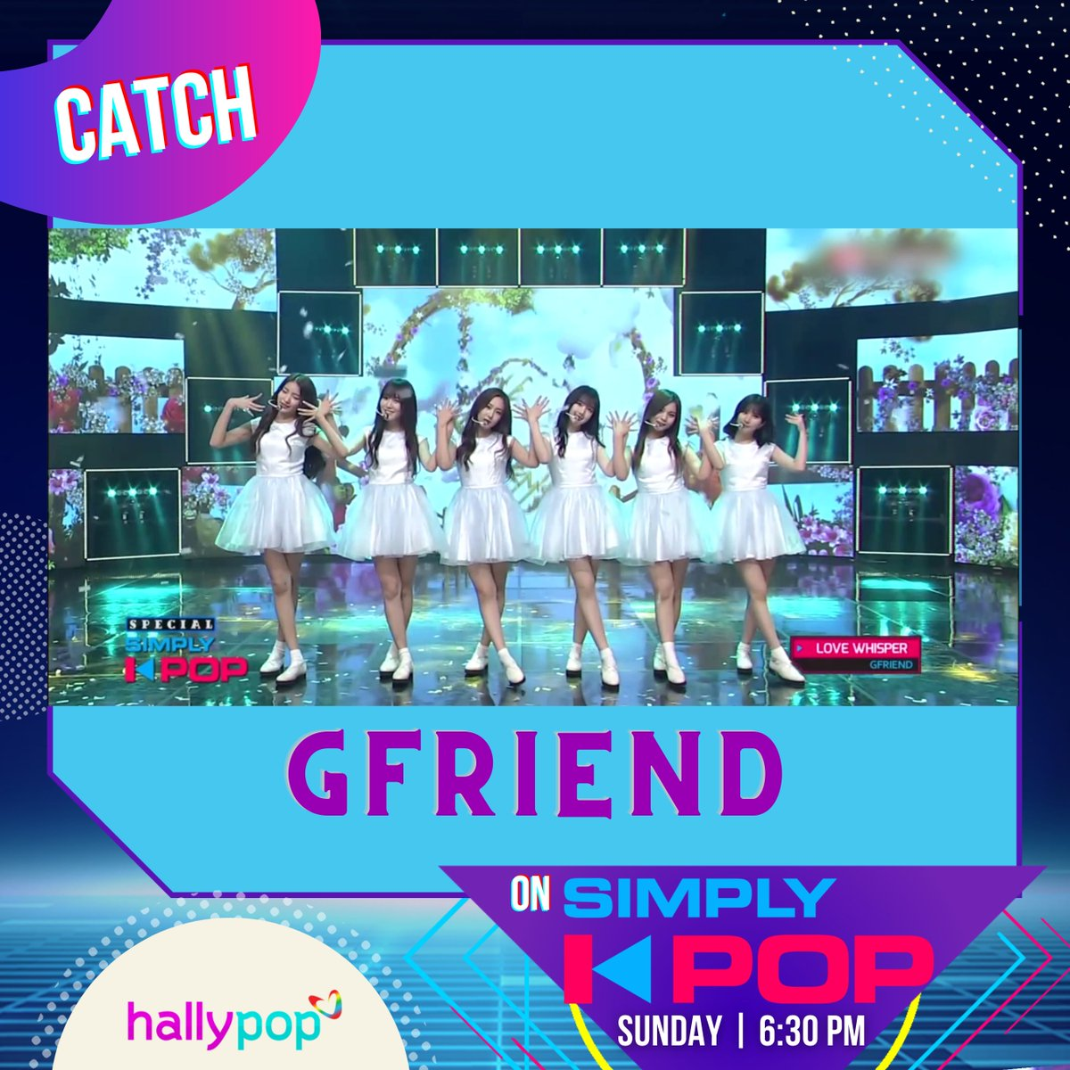 Talent overload! Catch GFRIEND later on #SimplyKPop!