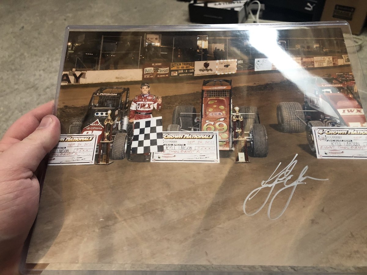 Since we weren't at IMS this year, I made the drive down to Speedway for the memorabilia show. This was the only thing I knew I couldn't walk out without. Seemed appropriate given it was driller day, and sure enough Young Money got it done! #ChiliBowl2021