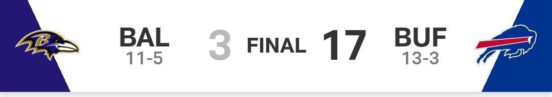 Qué equilibrados son #BillsMafia Y que bien le hace a la #NFL tenerlos de regreso en un juego de campeonato  #Ravensflock con Lamar Jackson volverán muy rápido a estos partidos.