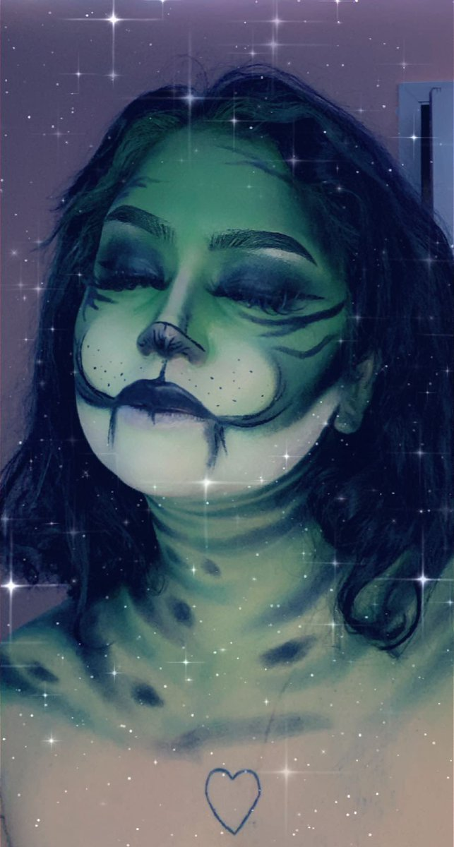 Green Tiger Inspo @ Luvorboy on #tiktok #makeupartist #art #tiktokchallenge #aboutface