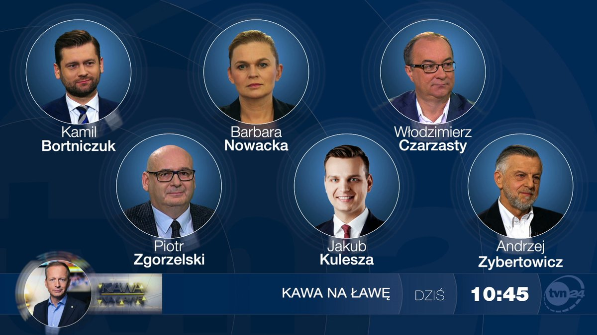 Dziś gośćmi @KonradPiasecki w @tvn24kawa będą: @KamilBortniczuk, @barbaraanowacka, @wlodekczarzasty, @PZgorzelskiP, @Kulesza_pl oraz @AndZyberto.   Zapraszamy o 10:45 do @tvn24 ⏰ https://t.co/EzUlP3R8l3 https://t.co/Xg4wr6euAc