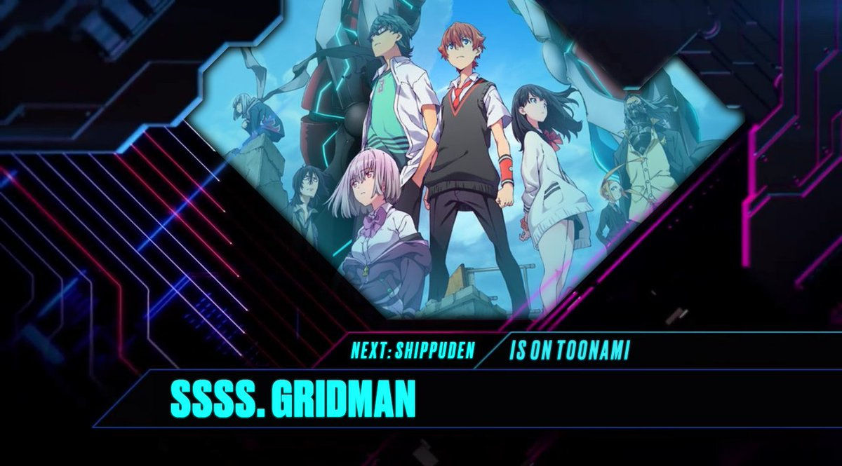 #SSSSGridman premieres now on Toonami.