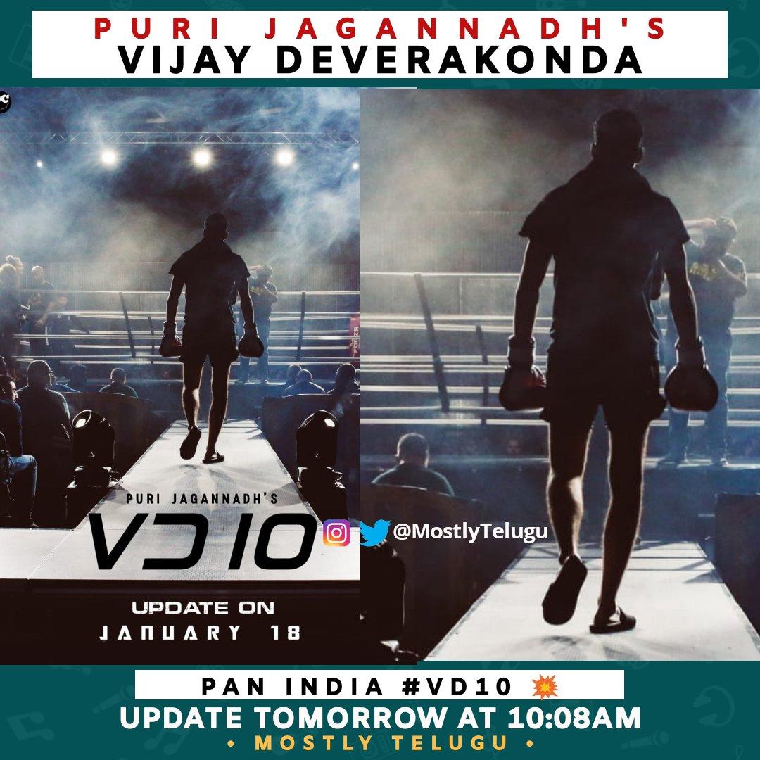 Puri Jagannath - Vijay Deverakonda💥 Pan India VD10 update tomorrow at 10:08 AM ❤️  Stay tuned for all the updates in  @MostlyTelugu ..Rakapothey Nerchuko 😜  #Tollywood #PuriJagannadh #vijaydevarakonda😍 #VD10 #Fighter #FighterMovie #PuriConnects #TollywoodMovie #MostlyTelugu