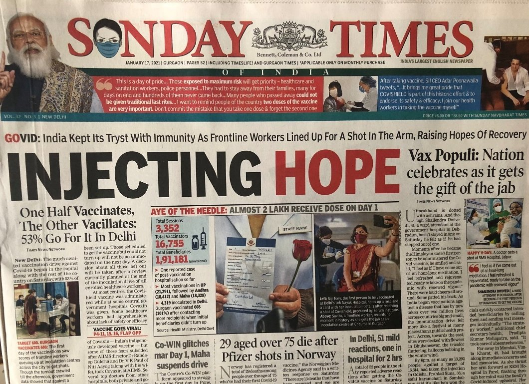Flabbergasted by today's ditto #headline in @timesofindia & @IndianExpress.