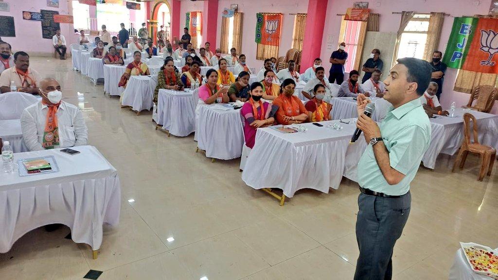Addressing the Karyakartas at the Day 2 of @BJP4Goa Prashikshan Shibir of Pernem Mandal.