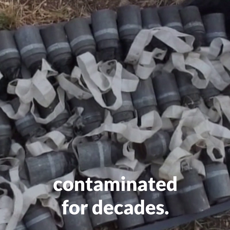 Why are cluster munitions so deadly?