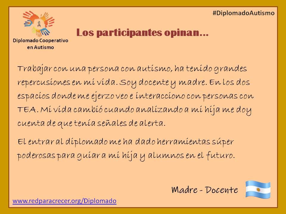 El Diplomado Cooperativo en #Autismo está diseñado para la formación teórica y práctica en atención de personas con la condición autista. Audiencia: docentes, padres, psicólogos, terapeutas ocup. y de lenguaje, pediatras, familiares...    #DiplomadoAutismo