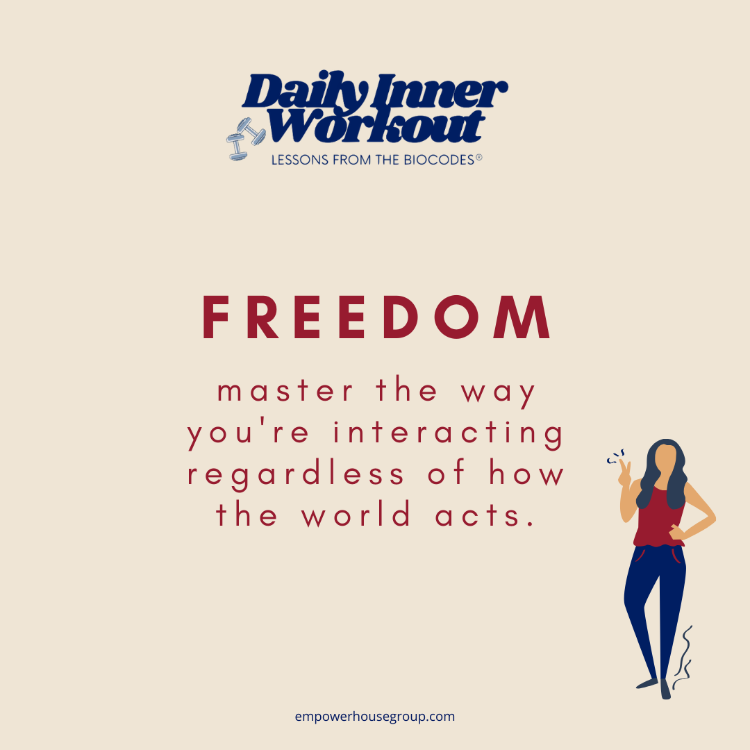 #DailyInnerWorkout Live freely. Only you can choose how you want to experience life's turbulent moments. Are you ready to fly? Try This:   #TheBioCodeSystem  #PersonalGrowth #stress #leadership #SundayMotivation #SundayThoughts