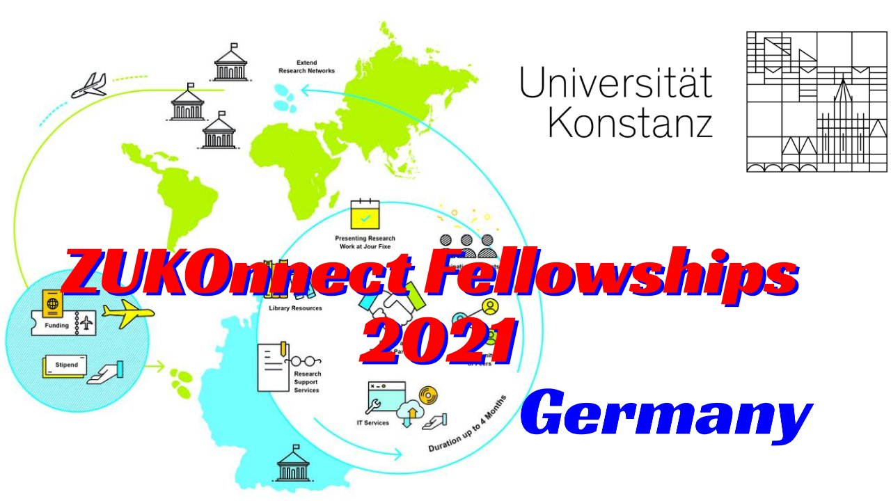 ZUKOnnect Fellowships 2021 for early career researchers in Germany