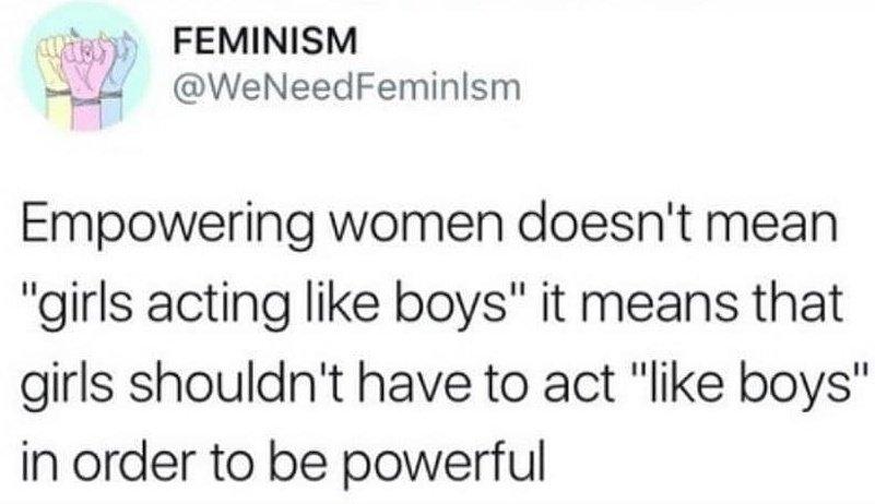 Perfectly defined!  #feminist  #genderinclusive #leadership  #genderequality #women #inspiration #motivation #linkedin #future