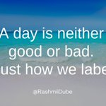 Image for the Tweet beginning: Avoid labelling situations, events, days