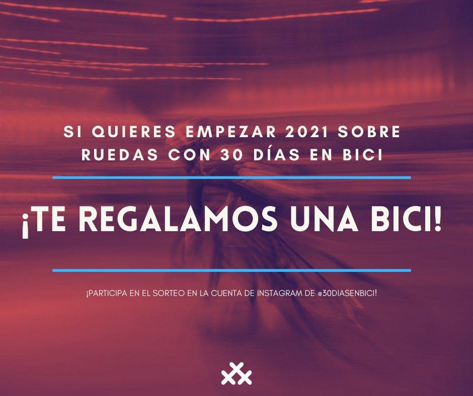 """Hoy acaba el plazo para participar en el #sorteo """"Arranca tu 2021 sobre ruedas con 30 Días en Bici"""". ¡Corre y saldrás pedaleando! Bases➡️  #mejorenbici #30diasenbici"""