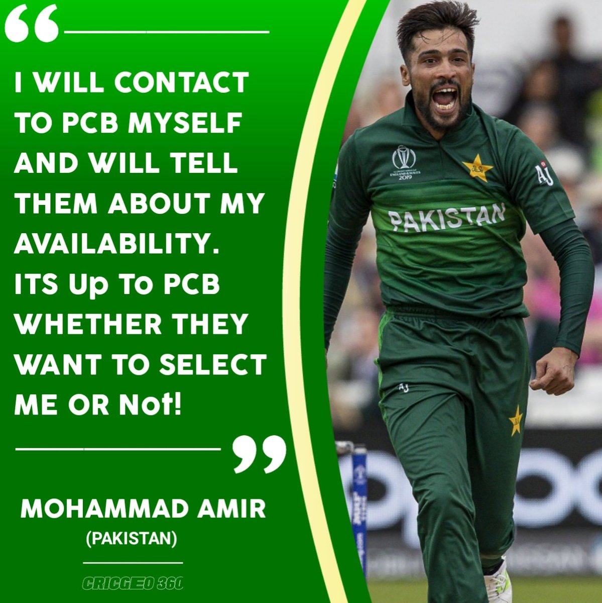 Big #BreakingNews! Mohammad Amir takes U-turn and wants to continue his international cricket career by contacting PCB! #MohammadAmir #amir  #PCB #Pakistani #Cricket #CricGeo360