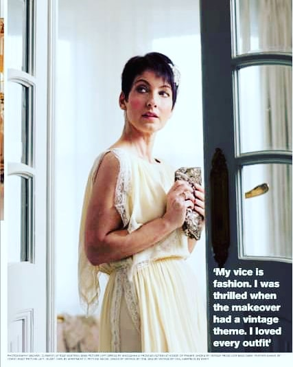 11 years ago today I was in #theobserver magazine  . The lovely @Twiggy and her team chose me as an @OlaySkin winner of a fun makeover. I had a really lovely day where I was pampered . Loved the vintage dresses sadly didn't get to keep them. #weekendvibes #memories #sundayvibes