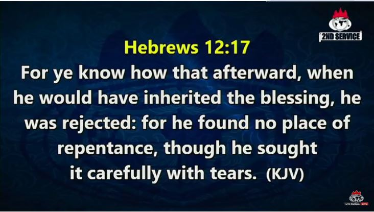 When the profitability of a thing is not known, it loses its value. When you don't know the value of a thing, you don't appreciate it. Genesis 25:32; Hebrews 12:16-17.  #LFCKubwa #CovenantDayofExemption #Sunday #SpecialAnointingService #21DaysFastingandPrayers #Day14