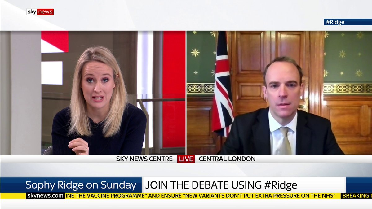"""Can the government guarantee people will get their second vaccine dose in 12 weeks?  """"We should be able to deliver it...I think we can be quietly confident"""" says @DominicRaab but he adds """"right the way through this pandemic we've had to adapt to all sorts of different things"""". https://t.co/mCTfiMJNuO"""