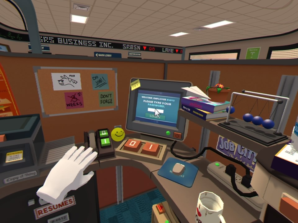 Job Simulator puts me behind a desk in an office in front of a computer. Too much like the real thing for my liking 😂 #psvr #jobsimulator