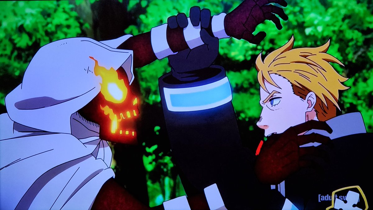 .@RobMcCollum The Fire Company had no other choice but to defeat Tempe or the entire forest will perished into a living hell just like what the hell happened in Midgar from FFVII💥🔥We're on episode 33 on #Toonami next week #FireForce 🔥🚒