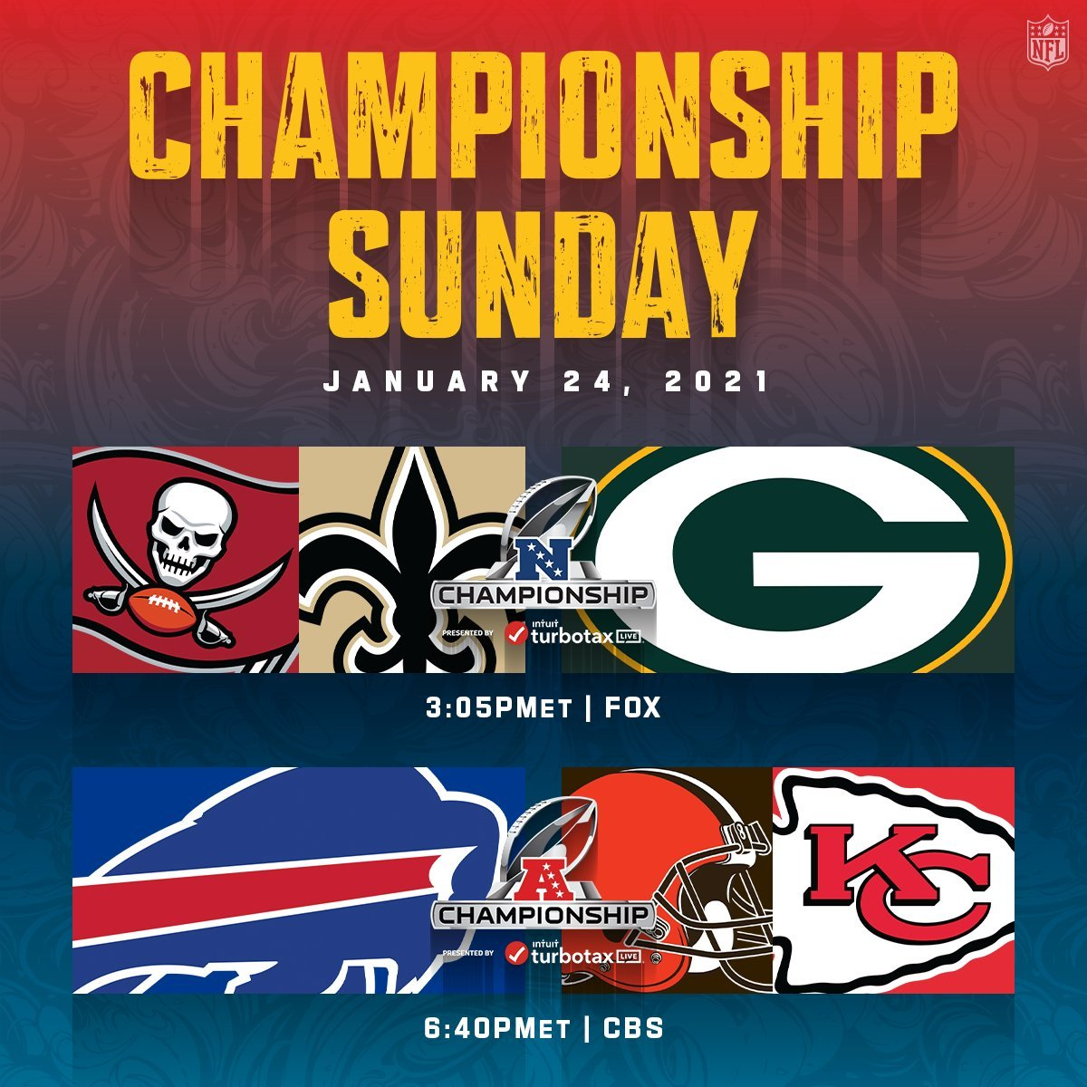 The @BuffaloBills are going to the AFC Championship & the @packers are heading to their second consecutive NFC Championship! #GoPackGo #BillsMafia #NFLPlayoffs