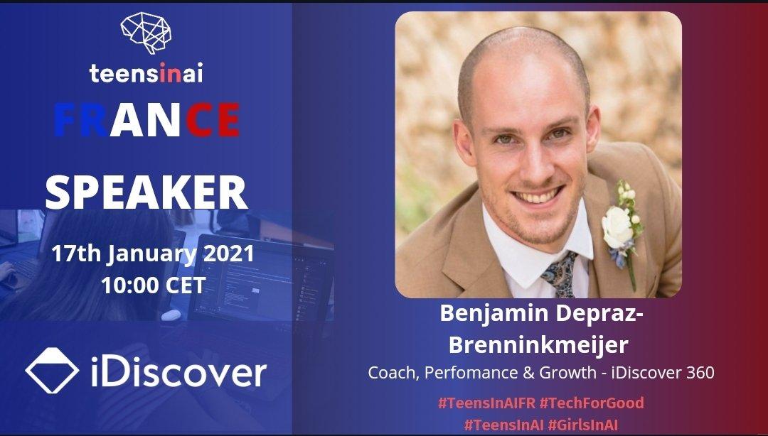 The last motivational talk of #TeensInAIFR by Ben Dapraz-Brenninkmeijer, Partner  @iDiscover360   Join us here live 👇  https://t.co/nMMb9T4y1Q https://t.co/f8I3YbTMiT