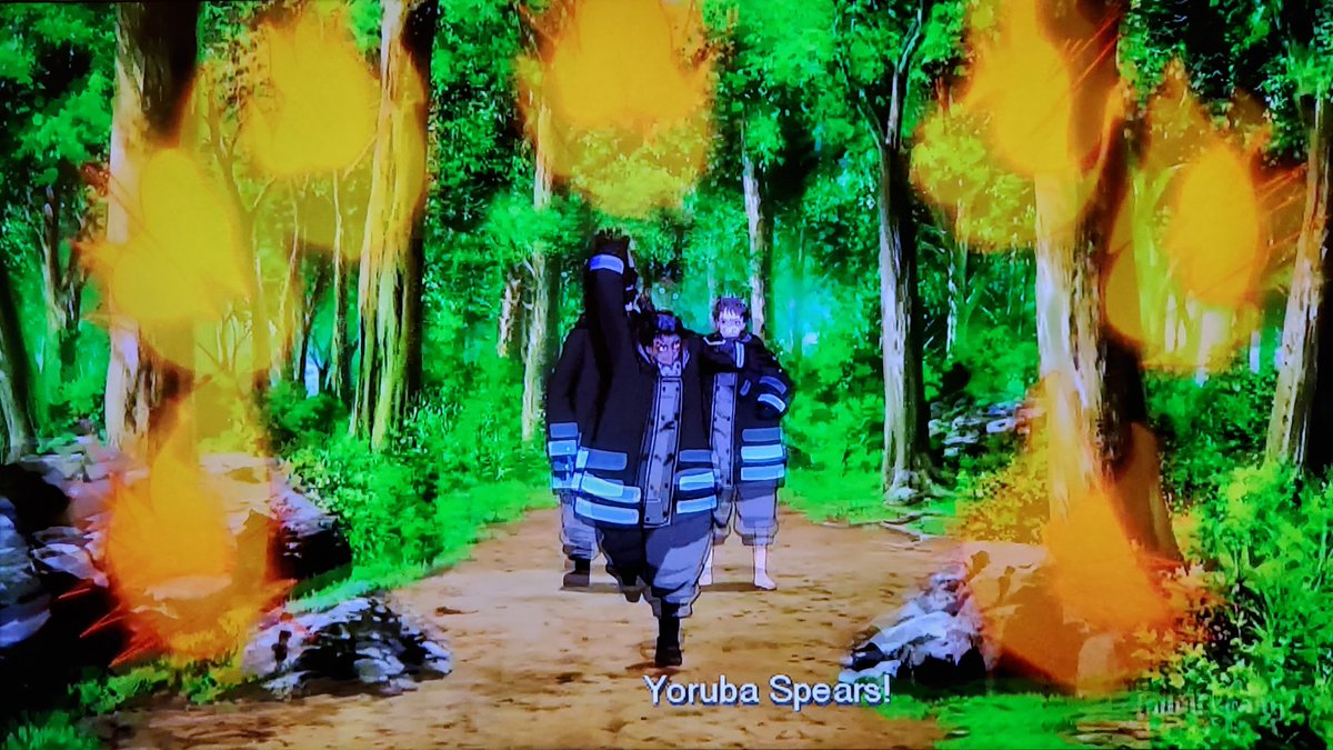 .@childishgamzeno The Fire Company had no other choice but to defeat Tempe or the entire forest will perished into a living hell just like what the hell happened in Midgar from FFVII💥🔥We're on episode 33 on #Toonami next week #FireForce 🔥🚒