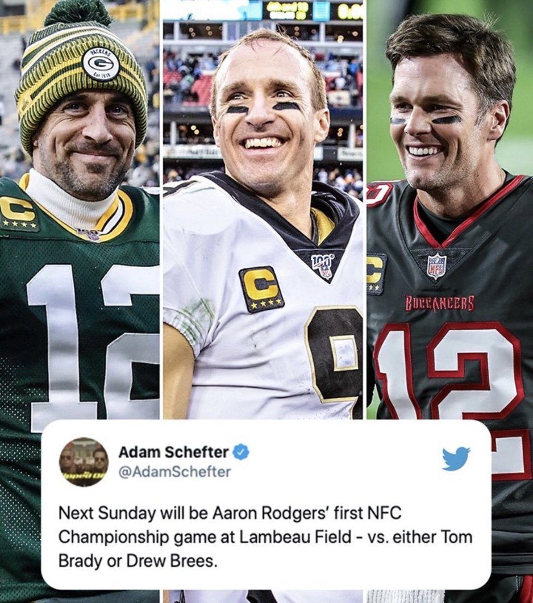 Who will Aaron Rodgers be playing next week?!? #NFCChampionshipGame #NFLPlayoffs