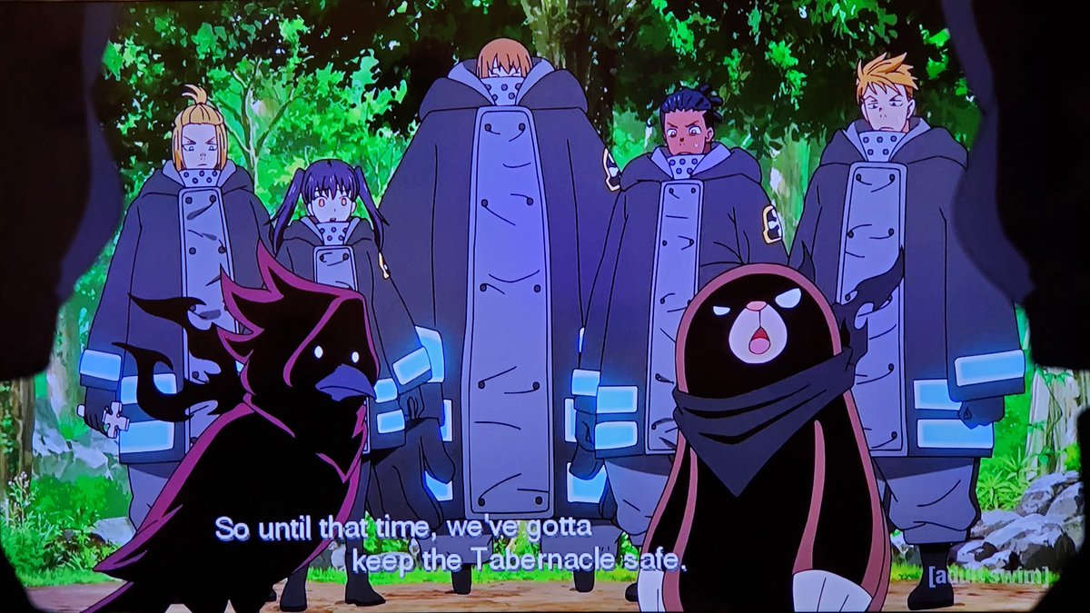 .@ChrisGuerreroVA The Fire Company had no other choice but to defeat Tempe or the entire forest will perished into a living hell just like what the hell happened in Midgar from FFVII💥🔥We're on episode 33 on #Toonami next week #FireForce 🔥🚒
