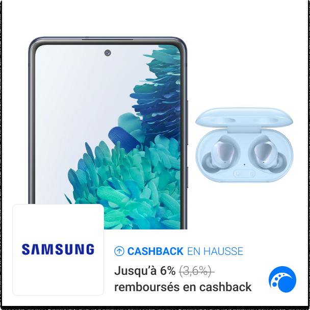 [🤩TRÈÈS BON PLAN] 🎁 Des Buds+ bleus OFFERTS pour l'achat d'un Samsung S20 FE Bleu ➕ Jusqu'à 6% DE CASHBACK 💰 ➡  Samsung vous gâte, profitez-en ! #samsung #mobile #smartphone #galaxybuds #cashback