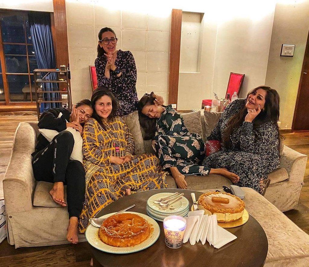 Happy home! 😘😘😘 #bollywood #bollywoodstyle #bollywoodactor #bollywoodstar #malaikaarora #karishmakapoor #amritaarora #kareenakapoorkhan #mommytobe #cute #adorable