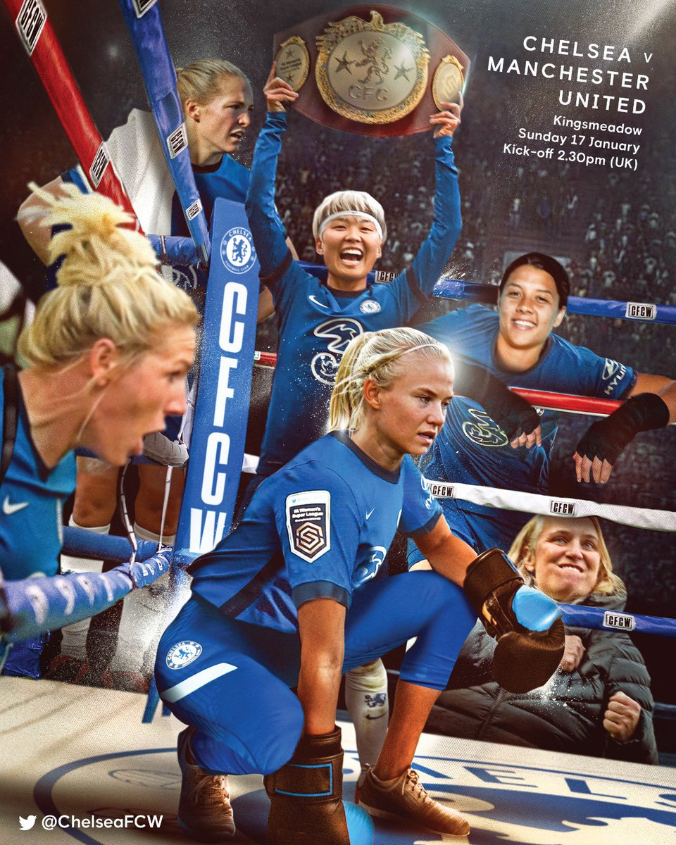Matchday and it's a big one! 💪  Chelsea v Manchester United.   COME ON YOU BLUES! 🔵 #CFCW
