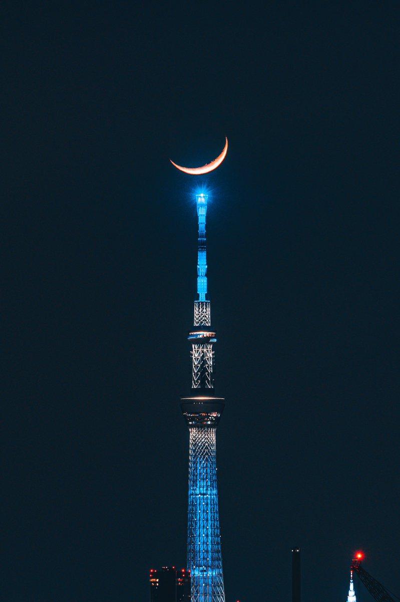 月光タワーだ…! #おじゃる丸