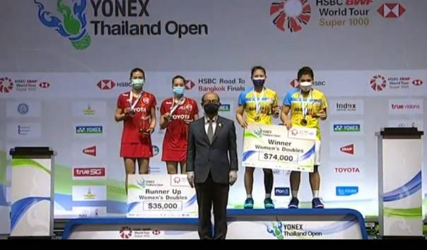Hasil Final BWF Thailand Open 2021, Indonesia Raih Gelar di Ganda Putri https://t.co/y49Ds4QTFC https://t.co/oFclrDTNSu