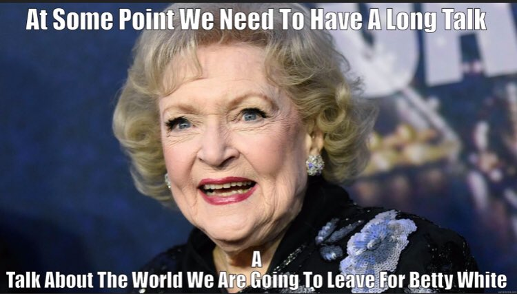 The amazing icon and incredible human being that is #BettyWhite is 99 years old today.  If *this* doesn't inspire you to follow the rules properly, then I don't know what will.... #HappyBirthdayBettyWhite